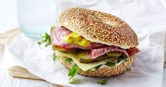Add pizzazz to work lunches with this very tasty salami and cheese bagel.