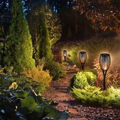Solar Lamps Solar Flash Light Control Flame Light Path Torches Ip55 Waterproof Fire Flickering Torch Light Garden Pathways Yard Price Remains Stable Lights & Lighting