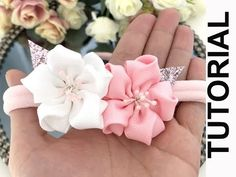 Trendy baby accessories diy how to make headband tutorial Ideas How To Make Headbands, Making Hair Bows, Diy Hair Bows, Diy Bow, Diy Ribbon, Ribbon Crafts, Ribbon Bows, Ribbons, Diy Crafts