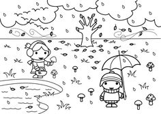 dibujos otoño colorear Summer Classes, Fall Projects, Snoopy, Fictional Characters, Free Printable, Free Coloring Pages, Kids Coloring Sheets, Seasons Of The Year, Learn To Paint