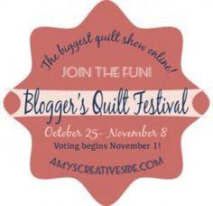 Blogger's Quilt Festival online quilt show. Oct. 25 - Nov 8. amyscreativeside.com