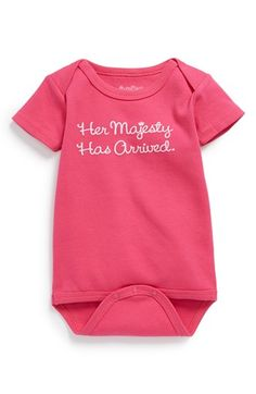 Sara Kety Baby & Kids 'Her Majesty' Cotton Bodysuit (Baby Girls) available at #Nordstrom