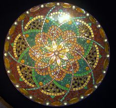 Amber Green Bowl by Dutch artist Mozaiek Lagarto.nl   Beautiful design and colors