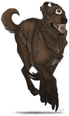 Psoglav (Serbian: Псоглави, literally doghead) is a demonic mythical creature in Serbian mythology. Psoglav was described as having a human body with horse legs, and dog's head with iron teeth and a single eye on the forehead. Psoglavs were described to live in caves, or in a dark land, which has plenty of gemstones, but no sun. They practice anthropophagy, by eating people, or even digging out corpses from graves to eat them.