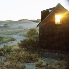 """a memory from a book called """"A Little House of My Own: 47 Grand Designs for 47 Tiny Houses."""" the dune shack is the most interesting of them all. it is also an endangered species."""