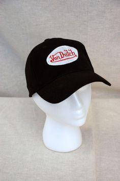 7e93f8fb00b Von Dutch Black Cap Hat Patch logo adjustable back  VonDutch  Trucker Mens Trucker  Hat
