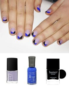 """Today on set with #nordstrom. Nails were painted """"Sharks"""" by Nars with a tip in Sally Hansen """"Pacific Blue"""" and Butt..."""