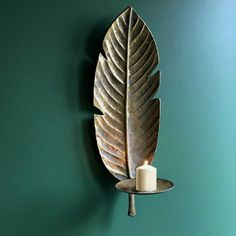 Golden Banana Leaf Wall Sconce - CuriousEgg