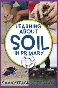 his unit is designed to teach -properties of soil-how and why soil is important to people-nonfiction reading skills. This unit includes-word wall words-language arts lessons-levelled reading passages-comprehension questions and answer key-levelled guided reading books-class big book activity-4 science experiment activities-full color photo cards for sorting and classifying activities Primary Science, Primary Teaching, Elementary Science, Elementary Teacher, Science Education, Teaching Tips, Teaching Reading, Education Quotes, Science Labs