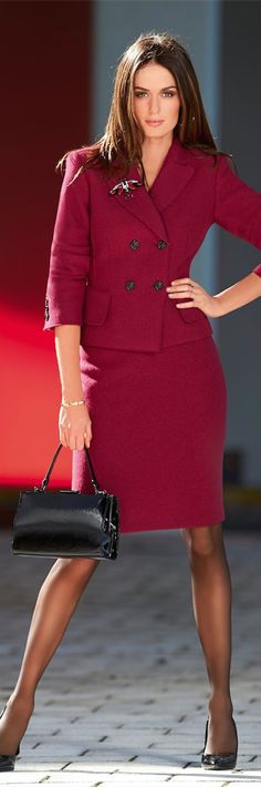 This is a beautiful suit. Love the color. LOOKandLOVEwithLOLO: New 2014 Madeleine Fall Arrivals....Suits, Jackets, and Skirts. #suits #jackets