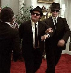 """"""" """"Come, Elwood, let us adjourn ourselves to the nearest table and overlook this establishment's board of fare"""" """" Blues Brothers Costume, Blues Brothers 2000, Brothers Movie, Bros, Star Trek, About Time Movie, Saturday Night Live, Sound Of Music, Classic Movies"""