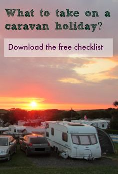 What to take on a caravan holiday - free list to download Mari's World #TimeTraveller