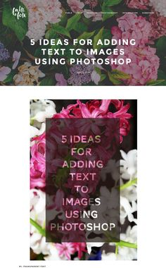 http://mammasaurus.co.uk/photoshop-tutorials/5-ideas-for-adding-text-to-images-using-photoshop