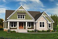 """""""Upstairs For The Kids"""" II - 500032VV   Architectural Designs - House Plans"""