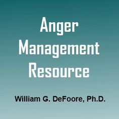 Anger management worksheets provided by Dr. William DeFoore to help you with family, school and workplace anger management issues.