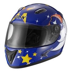 GLX Star Blue Youth Full-face Motorcycle Helmet - Overstock™ Shopping - Top Rated Helmets