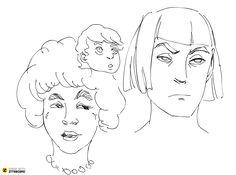 faces sketch | Ziteboard