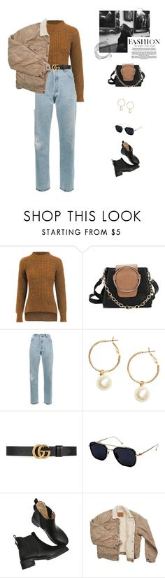 """""""Walk in the park."""" by greciapaola ❤ liked on Polyvore featuring RE/DONE, H&M, Gucci, Thom Browne and Levi's"""