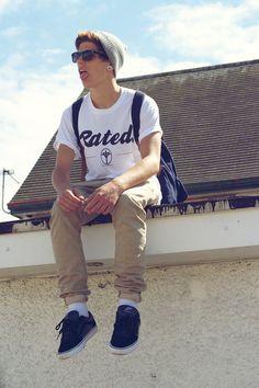 vans fashion style hipster indie beanie street Grunge boy urban skater skater boy grungefashionnirvana (Maddox)
