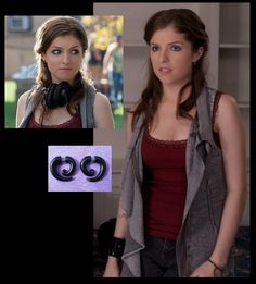 Pitch Perfect - Beca and outfit. Tank, vest, and earing