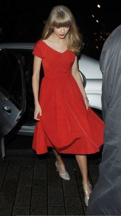 Red dress For bridesmaids