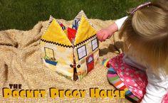 Pocket Peggy House Tutorial   So You Think You're Crafty