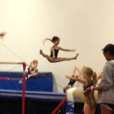 Saliya's first day of gymnastics. We thought she would be good!