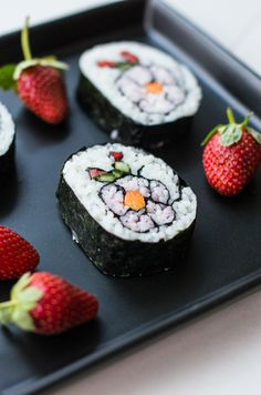 Sushi osa II – Nordic Atmosphereh Flower-sushi, kukka-sushia, kirsikankukka