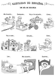daily routine activities in Spanish