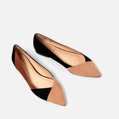 TRICOLOR BALLERINA FLATS from Zara