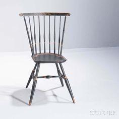 Diminutive Paint-decorated Windsor Fan-back Side Chair