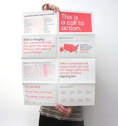 AIGA New Membership Campaign by Melissa Showalter, via Behance