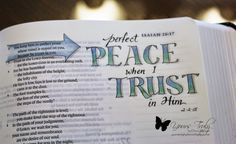 - Isaiah - Yours Truly: BIble Art Journaling Isaiah Bible, My Bible, Bible Scriptures, Bible Quotes, Isaiah 26, Scripture Art, Bible Art, Bible Study Journal, Art Journaling