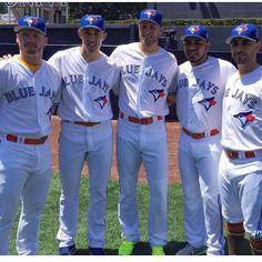 All Stars 2016!  Josh Donaldson, Aaron Sanchez, Michael Saunders, Edwin Encarnacion, Marco Estrada. Toronto Blue Jays. MLB. Baseball.