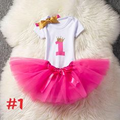 Baby Girl 1st Birthday Cake Smash Outfits 12m