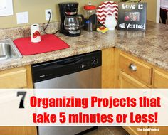 7 Organizing Projects that take 5 Minutes or Less