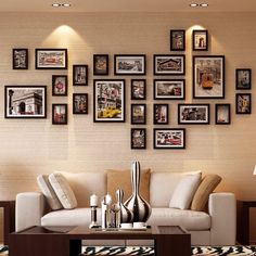 High-end European-style Vintage Home Decor Photo Frame  Set Mix and Match Collage Picture Frame Wall Elegant Wooden Crafts
