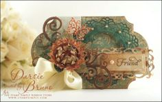 a multi-layered Friendship card using @Spellbinders Jewel Flowers & Flourishes with Vintage Lace Motifs and Label Twenty-Eight
