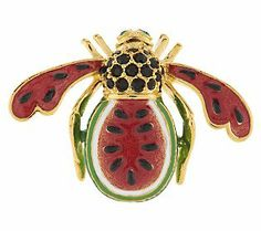Joan Rivers Watermelon Bee Pin