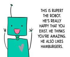 happy robot doodle