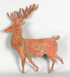 folk art metal deer or reindeer