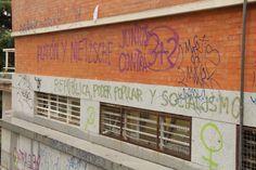 Facultad de Filosofía y Filología. Fachada sur. Ciudad Universitaria. Campus Moncloa. Madrid. 2015