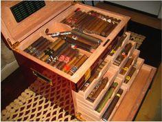 Cigar Humidor and Cigars Seasoning a Humidor