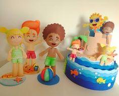 Chuá Chuá.. Agora eu vou mergulhar... Crianças com bolo fake tema Fundo do Mar e praia. Amei amei amei #bita #mundobita #festamundobita #festafundodomar #praia #bitapraia