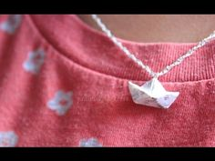 DIY: Polymer Clay Newspaper Boat Necklace - YouTube