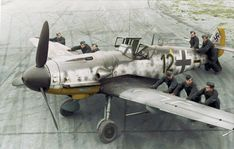Messerschmitt Bf-109 G6R6 5.Jagdgeschwader 2 (Schwarze 12) WNr 27083 DP+JC of pilot Unteroffizier Heinz Hünig at the Aèrodrome de Poix-en-Picardie in France. 2 October 1943.