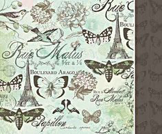 Paris 12x12 Double Sided Paper - Bonjour Collection