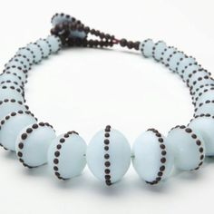 Glass beads, hollow, necklace, Amy Lemaire