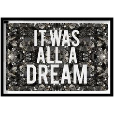 The Oliver Gal Artist Co. All A Dream Framed Art with Glitter Detail (44,850 PHP) ❤ liked on Polyvore featuring home, home decor, wall art, whimsical home decor, typography wall art, word wall art, quote wall art and framed wall art