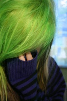green colored hair